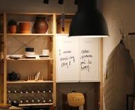 Детали на полке комнаты стоковые фотографии rf