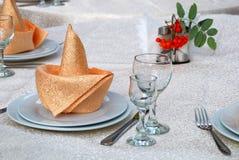 детали обедая установленная таблица Стоковое Изображение