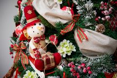 Детали от красной рождественской елки Стоковое Изображение