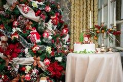 Детали от красной рождественской елки Стоковые Фотографии RF