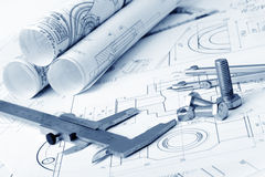 Детали плана промышленные Стоковые Изображения RF