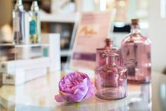 Детали розовых орнаментов в салоне красоты Стоковые Изображения RF