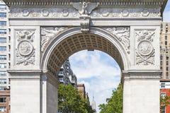 Детали свода квадрата Вашингтона в Нью-Йорке, США стоковая фотография