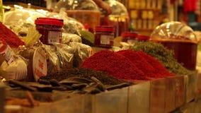 Детали специй на базаре, Антакье Турции видеоматериал