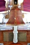 Детали старого колокола кораблей с шнуром Стоковые Фотографии RF