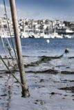 Детали старого покинутого корабля в кладбище корабля, Camaret Sur Стоковое фото RF