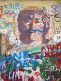 Детали стены Джон Леннон, Праги, чехии Стоковое фото RF