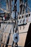 Детали такелажирования парусника Стоковая Фотография RF
