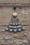 Детали традиционного итальянского средневекового исторического центра красивого маленького городка Spello Стоковые Фотографии RF
