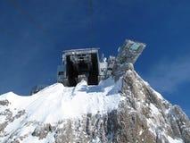 Детали фуникулера водя к леднику Dachstein стоковое фото