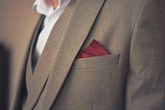 Детали элегантного костюма людей стоковая фотография