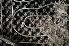 Детали Screed Выравнивать screed песка и цемента над топлением пола стоковые фотографии rf