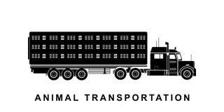 Детальная животная транспортируя иллюстрация тележки иллюстрация штока