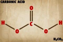Детальная иллюстрация молекулы кислоты угольной кислоты бесплатная иллюстрация