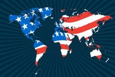 детальная карта vectors мир Стоковое Фото