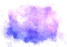 Детальная розовая и фиолетовая текстура watercolour иллюстрация вектора