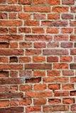 Детальная старая красная кирпичная стена Стоковое Изображение RF
