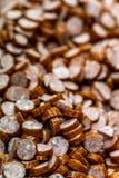 Детальное фото Closup отрезанных сосисок стоковое фото