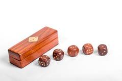детально dices установленное деревянное стоковые фото
