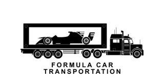 Детальный автомобиль формулы транспортируя иллюстрацию тележки бесплатная иллюстрация