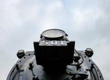 Детальный взгляд прежнего, американского локомотива Стоковая Фотография RF