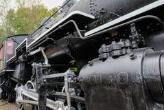 Детальный взгляд прежнего, американского локомотива Стоковое фото RF