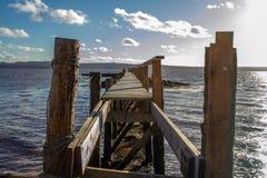 Детальный взгляд старой пристани Стоковое Изображение RF