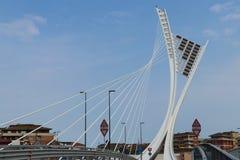 """Детальный взгляд """"моста Ennio Flaiano """" Известный итальянский писатель стоковые фотографии rf"""