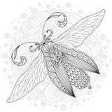 Детальный орнаментальный эскиз сумеречницы Стоковое Изображение