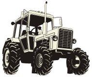 детальный трактор силуэта иллюстрация штока