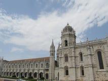 Детальный экстерьер собора в Португалии Стоковое Фото