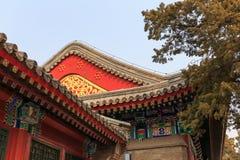 Деталь архитектуры традиционного китайския Стоковая Фотография