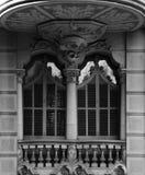 Деталь балкона с частью 2 флористических орнаментов Стоковые Фотографии RF