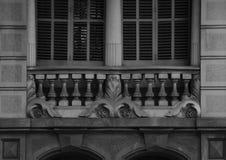 Деталь балкона с частью 3 флористических орнаментов Стоковое Изображение RF