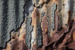 Деталь бумаги смолки ржавого объявления стены металла старой Стоковые Изображения RF