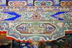 Деталь висков в Leh, Ladakh стоковая фотография