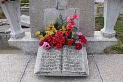 Деталь в кладбище Принятый в 2016, Мексика стоковая фотография
