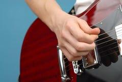Деталь гитары стоковое изображение