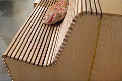 Деталь деревянного стенда планки стоковое фото