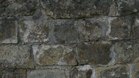 Деталь естественной серой текстуры каменной стены старый сбор винограда видеоматериал