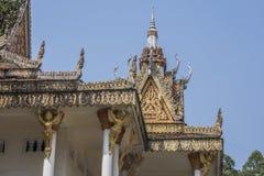 Деталь законцовок виска kraom sihanoukville wat Камбоджа стоковое изображение rf