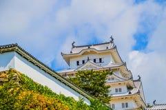 Деталь замка Японии Himeji стоковые изображения rf
