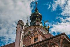 Деталь замка Cesky Krumlov в Богемии, чехии Стоковые Изображения RF