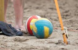 Деталь игры пляжа volleybal Стоковая Фотография
