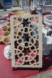 Деталь искусства тахты мраморная высекая Стоковые Фото