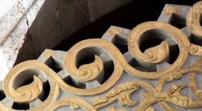 Деталь искусства тахты мраморная высекая Стоковая Фотография