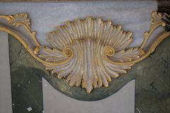 Деталь искусства тахты мраморная высекая Стоковые Изображения