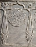 Деталь искусства тахты мраморная высекая Стоковые Фотографии RF