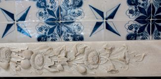 Деталь искусства тахты мраморная высекая Стоковые Изображения RF