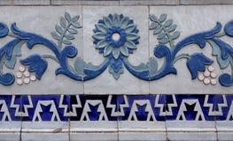 Деталь картины керамической плитки стоковое изображение